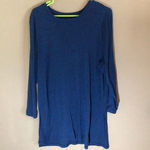 Old navy side slit tunic in royal blue heather